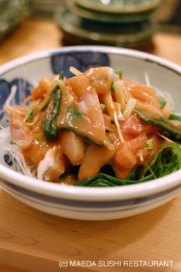 Sashimi Salad -新鮮��の梅ソース和え